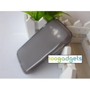 Силиконовый матовый полупрозрачный чехол для Samsung Galaxy Ace 3