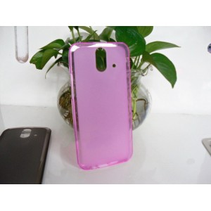 Силиконовый матовый полупрозрачный чехол для HTC One E8