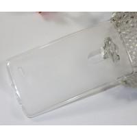 Силиконовый матовый полупрозрачный чехол для LG G3 (Dual-LTE) Белый