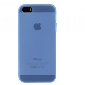 Силиконовый матовый полупрозрачный чехол для Iphone 5/5s/SE Голубой