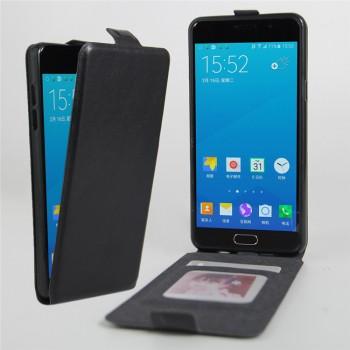 Чехол вертикальная книжка на силиконовой основе с отсеком для карт на магнитной защелке для Samsung Galaxy A5 (2016)