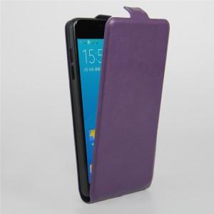 Чехол вертикальная книжка на силиконовой основе с отсеком для карт на магнитной защелке для Samsung Galaxy A5 (2016) Фиолетовый