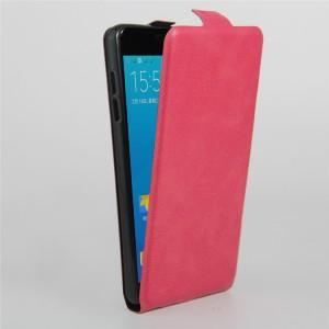 Чехол вертикальная книжка на силиконовой основе с отсеком для карт на магнитной защелке для Samsung Galaxy A5 (2016) Пурпурный