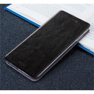 Чехол горизонтальная книжка подставка на силиконовой основе для Xiaomi Mi5S Черный