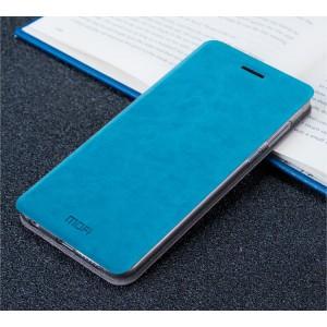Чехол горизонтальная книжка подставка на силиконовой основе для Xiaomi Mi5S Голубой