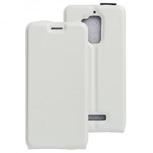 Чехол вертикальная книжка на силиконовой основе с отсеком для карт на магнитной защелке для Asus ZenFone 3 Max Белый