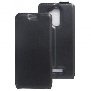 Чехол вертикальная книжка на силиконовой основе с отсеком для карт на магнитной защелке для Asus ZenFone 3 Max