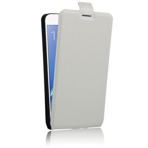 Чехол вертикальная книжка на силиконовой основе с отсеком для карт на магнитной защелке для Samsung Galaxy J7 (2016)