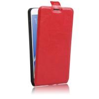 Чехол вертикальная книжка на силиконовой основе с отсеком для карт на магнитной защелке для Samsung Galaxy J7 (2016) Красный