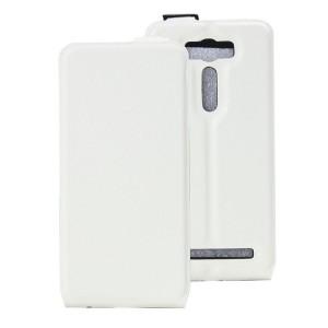 Чехол вертикальная книжка на силиконовой основе с отсеком для карт на магнитной защелке для ASUS Zenfone 2 Laser 5 ZE500KL Белый