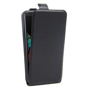 Чехол вертикальная книжка на силиконовой основе с отсеком для карт на магнитной защелке для LG K10 Черный