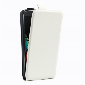 Чехол вертикальная книжка на силиконовой основе с отсеком для карт на магнитной защелке для LG K10 Белый
