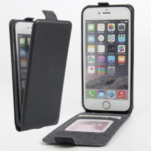Чехол вертикальная книжка на силиконовой основе с отсеком для карт на магнитной защелке для Iphone 6/6s