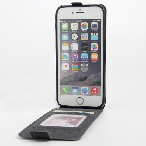 Чехол вертикальная книжка на силиконовой основе с отсеком для карт на магнитной защелке для Iphone 6/6s Белый