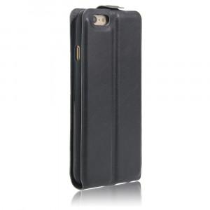 Чехол вертикальная книжка на силиконовой основе с отсеком для карт на магнитной защелке для Iphone 6/6s Черный
