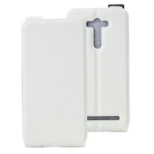 Чехол вертикальная книжка на силиконовой основе с отсеком для карт на магнитной защелке для ASUS Zenfone 2 Laser