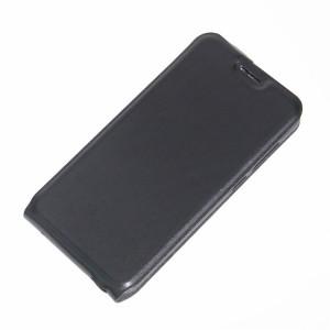 Чехол вертикальная книжка на силиконовой основе с отсеком для карт на магнитной защелке для ZTE Blade A610 Черный