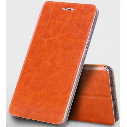 Чехол флип подставка на силиконовой основе для Xiaomi RedMi Note 4 Пурпурный