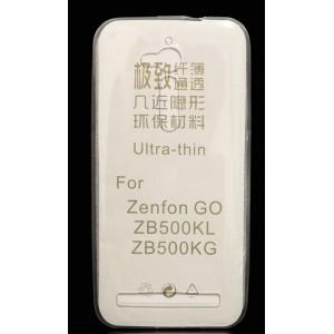 Силиконовый глянцевый транспарентный чехол для ASUS ZenFone Go ZB500KL/ZB500KG