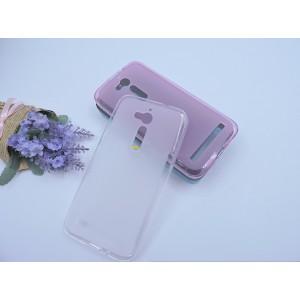 Силиконовый матовый полупрозрачный чехол для ASUS ZenFone Go ZB500KL/ZB500KG Белый