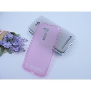 Силиконовый матовый полупрозрачный чехол для ASUS ZenFone Go ZB500KL/ZB500KG Розовый