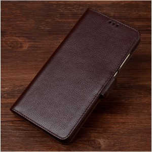 Кожаный чехол горизонтальная книжка подставка (премиум нат. кожа) с магнтной застежкой для ASUS ZenFone Go ZB500KL/ZB500KG