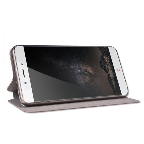Глянцевый водоотталкивающий чехол горизонтальная книжка подставка на силиконовой основе для Huawei Honor 8 Черный