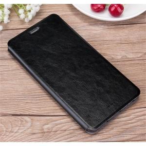 Глянцевый водоотталкивающий чехол горизонтальная книжка подставка на силиконовой основе для Huawei Honor 5A Черный