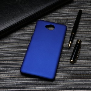 Пластиковый непрозрачный матовый чехол для Microsoft Lumia 650  Синий