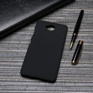 Пластиковый непрозрачный матовый чехол для Microsoft Lumia 650  Черный