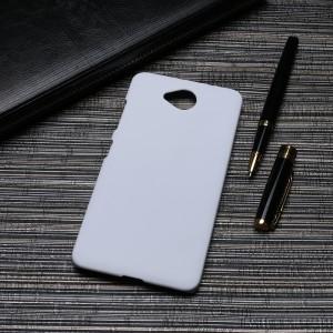 Пластиковый непрозрачный матовый чехол для Microsoft Lumia 650  Белый