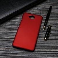 Пластиковый непрозрачный матовый чехол для Microsoft Lumia 650  Красный