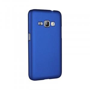 Пластиковый непрозрачный матовый чехол для Samsung Galaxy J1 (2016)  Синий