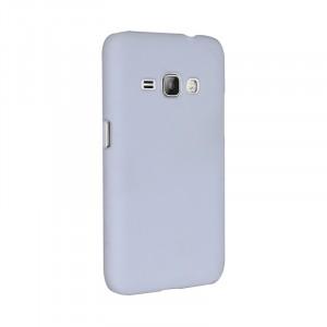 Пластиковый непрозрачный матовый чехол для Samsung Galaxy J1 (2016)  Белый