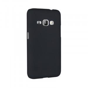 Пластиковый непрозрачный матовый чехол для Samsung Galaxy J1 (2016)  Черный