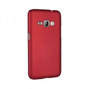 Пластиковый непрозрачный матовый чехол для Samsung Galaxy J1 (2016)  Красный