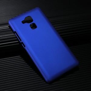 Пластиковый непрозрачный матовый чехол для Huawei Honor 5X Синий