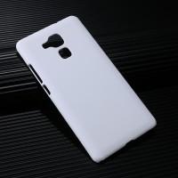 Пластиковый непрозрачный матовый чехол для Huawei Honor 5X Белый