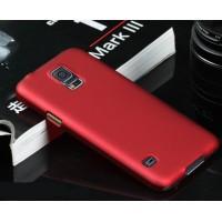 Пластиковый непрозрачный матовый чехол для Samsung Galaxy S5 (Duos) Красный