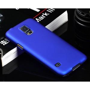 Пластиковый непрозрачный матовый чехол для Samsung Galaxy S5 (Duos) Синий
