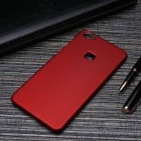 Пластиковый непрозрачный матовый чехол для Huawei P9 Lite Красный