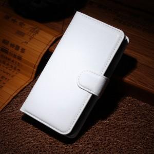 Чехол портмоне подставка на магнитной защелке для Nokia Lumia 630 Белый