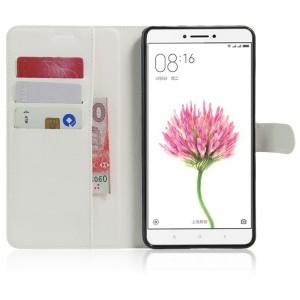 Чехол портмоне подставка на силиконовой основе на магнитной защелке для Xiaomi Mi Max Белый