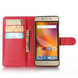 Чехол портмоне подставка на силиконовой основе на магнитной защелке для ZTE Blade X3  Красный