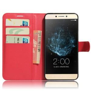 Чехол портмоне подставка на силиконовой основе на магнитной защелке для LeEco Le 2 Красный