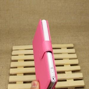 Чехол портмоне подставка на магнитной защелке для Sony Xperia Z1 Розовый