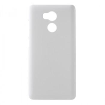 Пластиковый непрозрачный матовый чехол для Xiaomi RedMi 4 Pro  Белый
