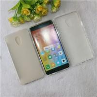 Силиконовый матовый полупрозрачный чехол для Meizu Pro 6 Plus  Белый