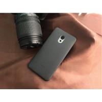 Силиконовый матовый непрозрачный чехол с текстурным покрытием Кожа для Meizu Pro 6 Plus  Черный