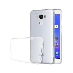 Силиконовый глянцевый полупрозрачный чехол с нескользящими гранями и защитными заглушками для ASUS ZenFone 3 Max ZC553KL